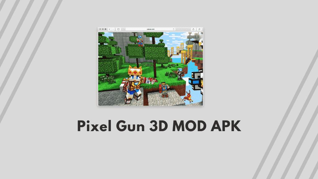 Pixel Gun 3D MOD APK Poster