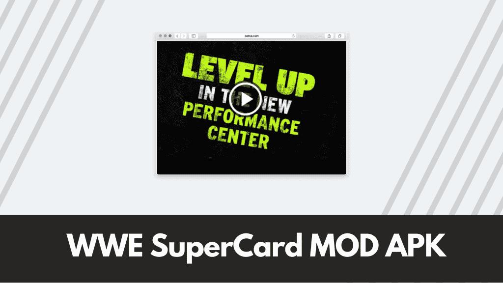 WWE SuperCard MOD APK Poster