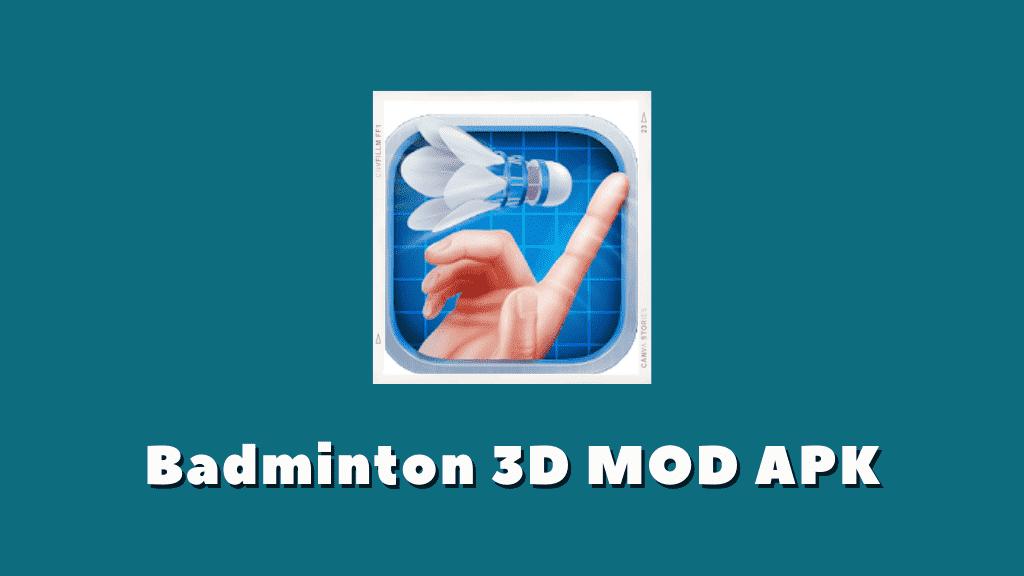 Badminton 3D MOD APK Poster