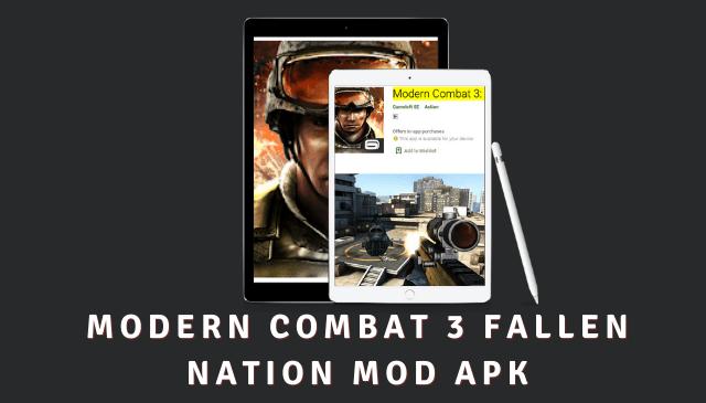 Modern Combat 3 Fallen Nation Cover