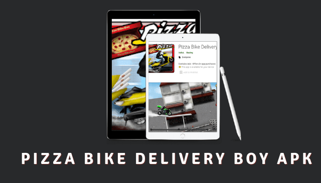 Pizza Bike Delivery Boy Cover