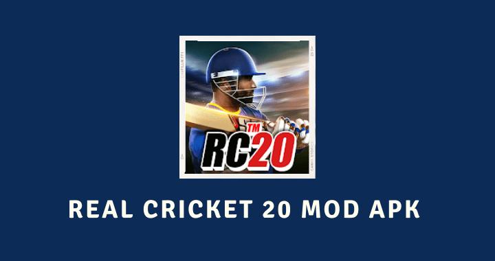Real Cricket 20 MOD APK Poster