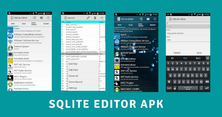 SQLite Editor APK Screenshots