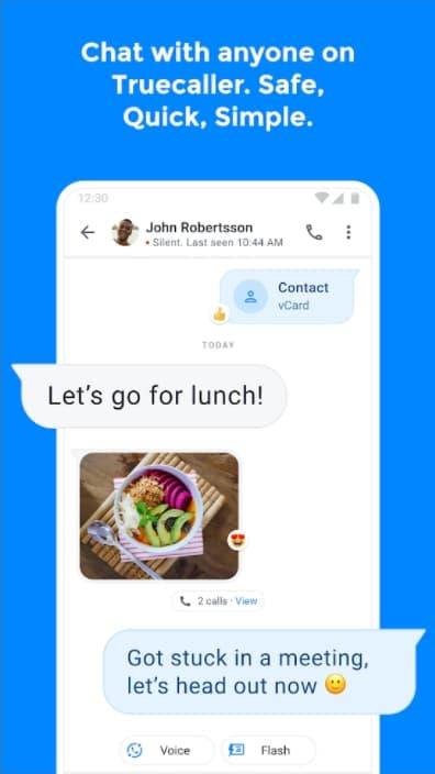 Truecaller Premium APK Screen 2: Smart Messaging