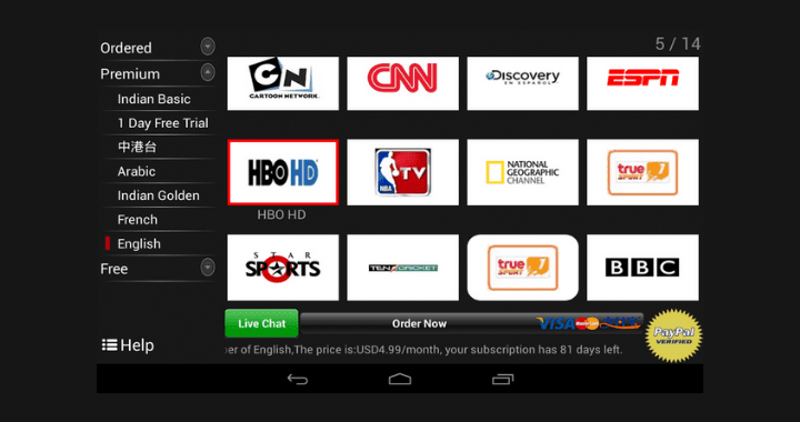 Cloud TV Apk for android: 100 HD TV channels