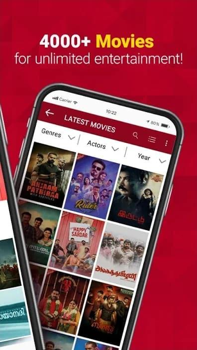Sun NXT Screenshot: 4000+ Movies to Stream