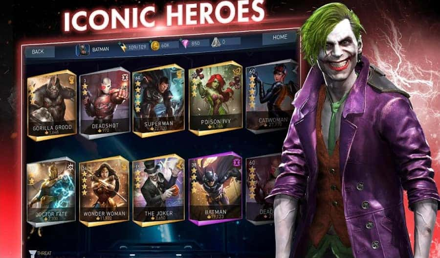 injustice 2 Unlocked all characters