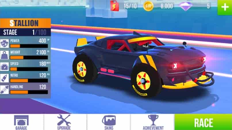 SUP Multiplayer Racing MOD Unlocked All Cars