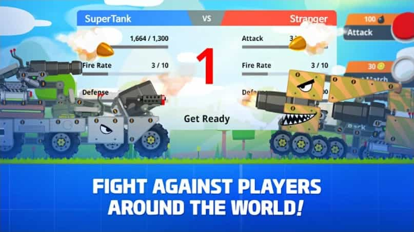 Super Tank Rumble MOD Unlimited Money